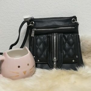 Small black croddbody bag. No brand name